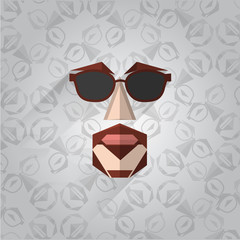 Illustration of hipster face