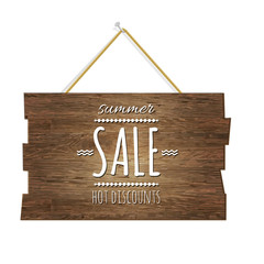 Summer Sale Wooden Board