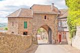 Innenseite der Torwache der Burg Friedberg in der Wetterau