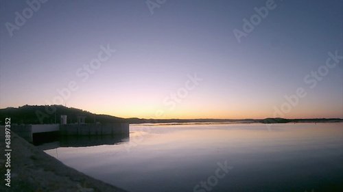 Alqueva Dam lake twilight
