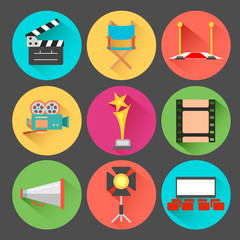 Movie and Film icon set