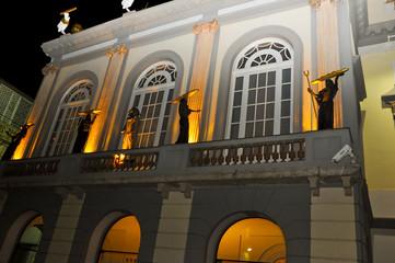 Facade of the Dali Theatre in Catalonia, Spain.
