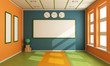 Empty Colorful classroom