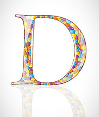 Abstract letter D. Illustration 10 version