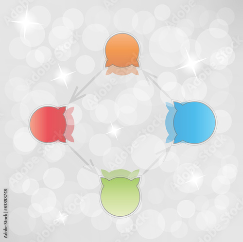 gradient circle arrows with bubbles