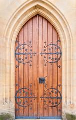 Historical ornate  door , Kutna Hora, Czech Republic
