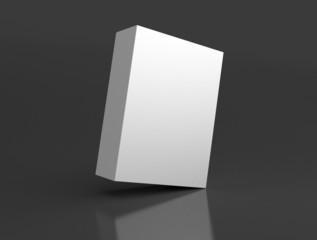 Box schräg auf weißem Hintergrund