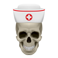 Skull in nurse cap