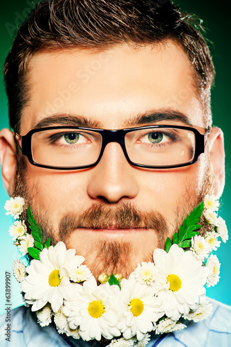 beard of flowers