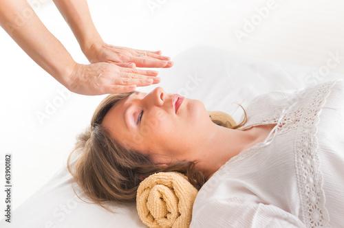 Leinwandbild Motiv Reiki healing