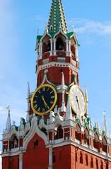 Moscow Kremlin, Spasskaya (Saviors) clock tower.
