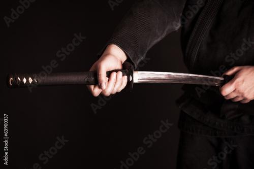 Fotobehang Vechtsporten Japanese katana