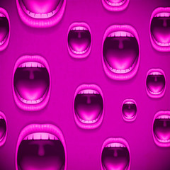pink background mouth vintage