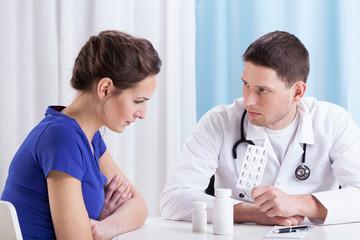 Doctor prescribing medicine