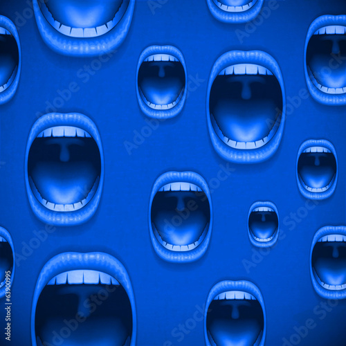 mouth blue vitage background
