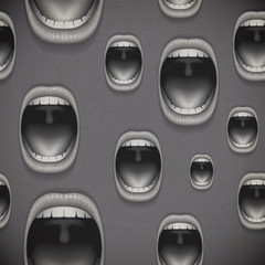 mouth grey horror background