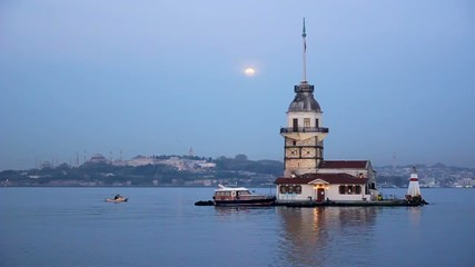 Istanbul Maiden's Tower in the morning