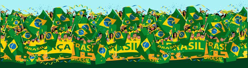 Brazilian soccer fas