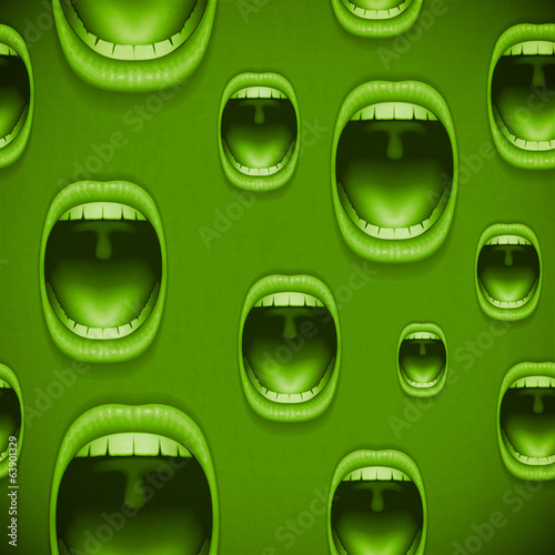 mouth green horror background