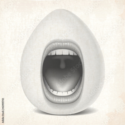 mouth egg open