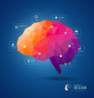 Brain idea geometric infographic design