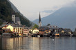Hallstatt - the beautiful town at sunset