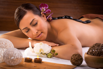 beautiful  woman in a spa salon