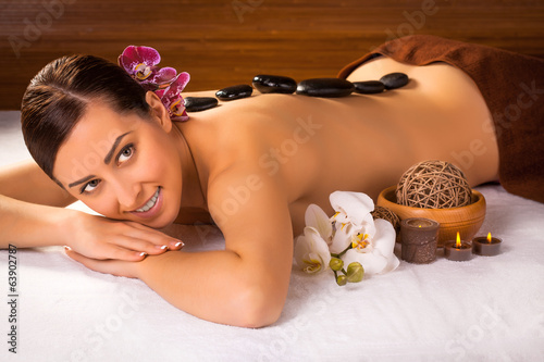 cute woman in a massage salon