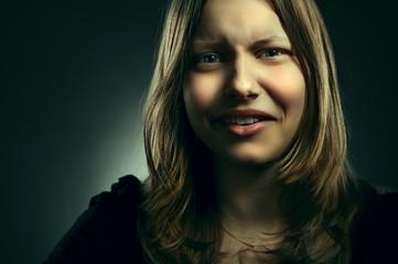 Portrait of a teen girl, closeup