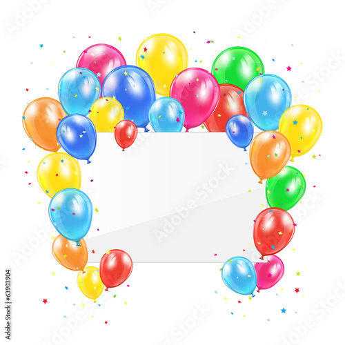 Balloons and card