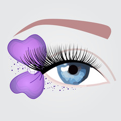 nice purple eye for party