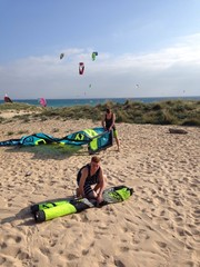 Kiter am Strand
