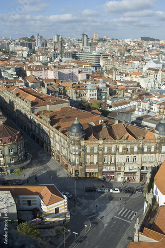Porto skyline from Clerigos tower, Portugal