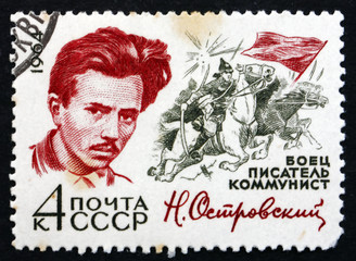 Postage stamp Russia 1964 Nikolai Ostrovsky, Writer