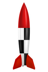 Rocket on white background