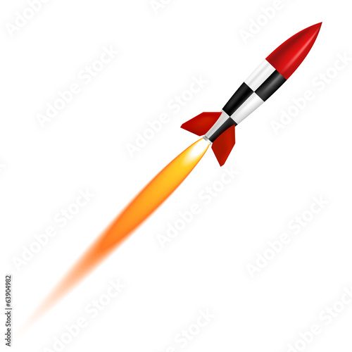 The launch of a white background