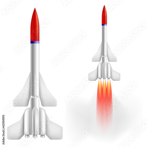Military two-stage rocket