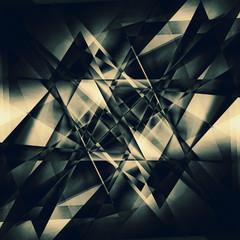 black facet background