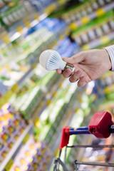 Choosing energy efficient lighting LED diode light bulb