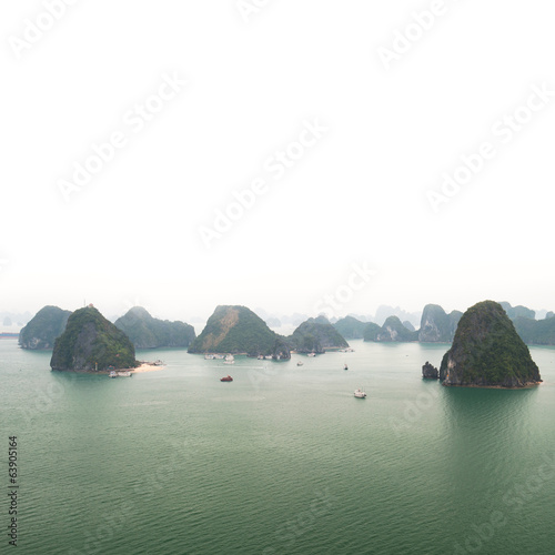 Halong bay Vietnam panoramic view