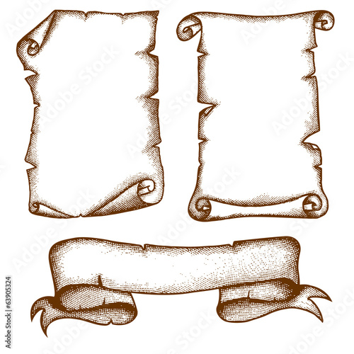 Hand-drawn Scrolls