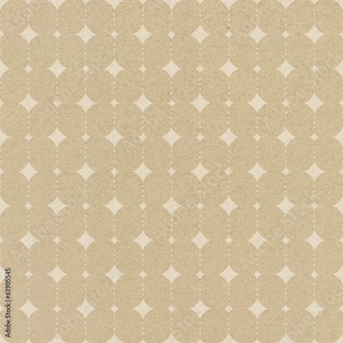 Seamless  geometric pattern on packaging paper texture