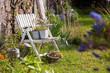 Obrazy na płótnie, fototapety, zdjęcia, fotoobrazy drukowane : Chaise au jardin
