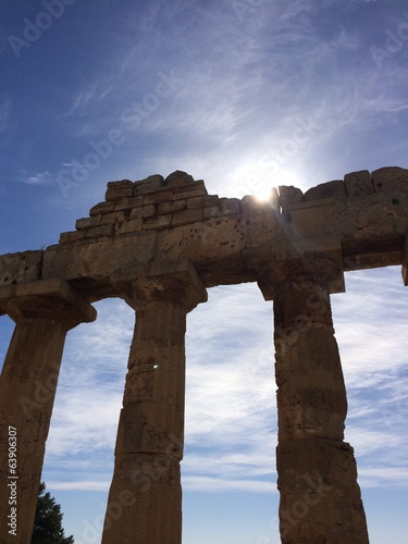 Temple antique en Sicile