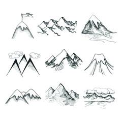 Mountain top icons