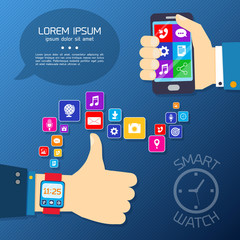 Smart watch synchro concept