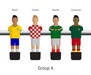 Table football, soccer players. Group A