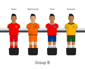 Table football, soccer players. Group B