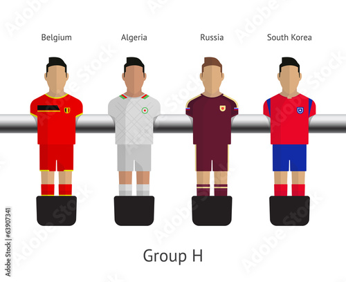 Table football, soccer players. Group H