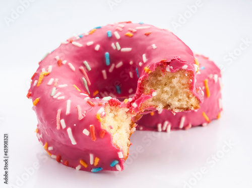 glazed donuts with colored sugar granules